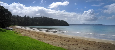 Martins Bay with Kawau Island