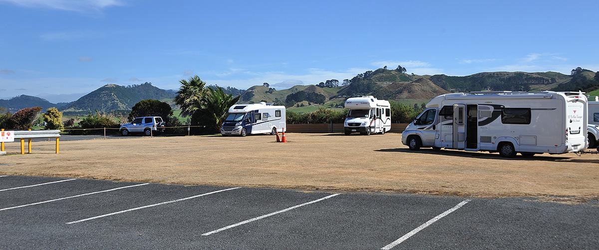 The Razza parking area