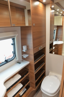 And the Toilet on the other. Look at all that storage in the Nomad
