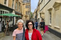 Hilary and Fiona in Bath