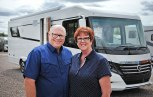 Gary and Dianne with the beast behind