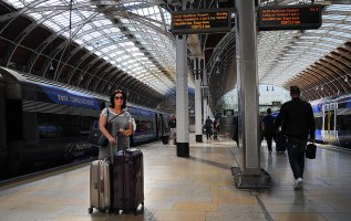 At Paddington with the amazing roof