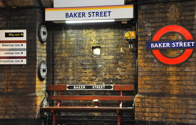Trains past Baker Street