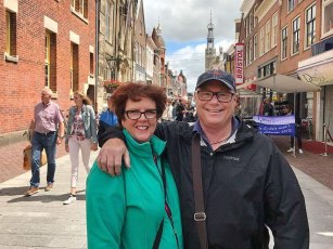 Dianne and Gary in the main street