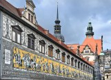 The ceramic mural of past Kings and Queens