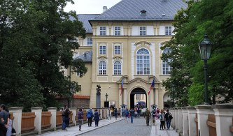 The Entrance to Prague castle.. security was tight