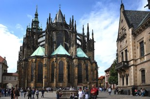 Prague Castle Cathedral from the back.