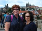 Dianne and Fiona with Prague Castle behind