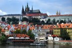 parts of the Old Town with Prague Castle