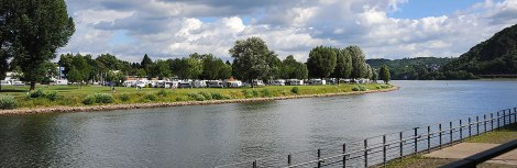 The campground from Koblenz
