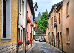A small lane in Echternach on the way home past the old Church