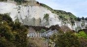 The Mangaweka River Bridge with the cliffs