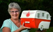 Sue (Peskis) with her new Letterbox