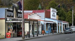 Looking down the main street of Reefton