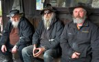 The Bearded Miners. Gavin, Peter and Mark