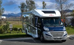 Motorhome parking outside