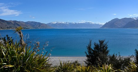 Lake Hawea from the township
