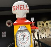 A Shell Bowser and a Tyre Pressure repair station behind