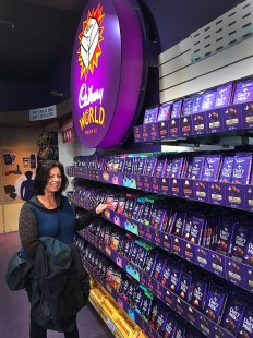 Fiona with the Cadburys Chocolate