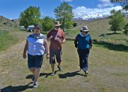 Margaret, Ray and Fiona walking back for lunch