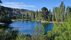 A sluicing lake behind the park _ Roxburgh.