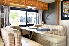 The Dining area on Mike and Pams vehicle.