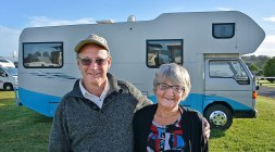 Bruce and Keitha with their Home away from Home