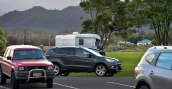 Showing the main carpark from the motorhome parking