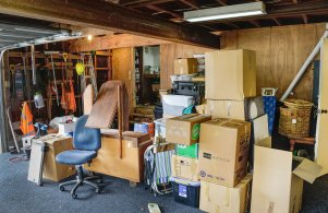 All our stuff in the Garage