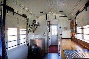 Inside the Train kitchen