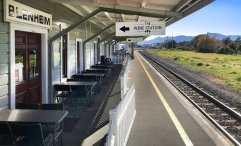 Blenheim railway Station now a Wine Bar