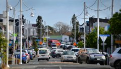 Looking down the main drag of Pukekohe