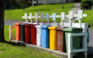 Colourful bins