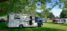 Rafe at the Cambridge Top 10 with the Lightweight Caravans