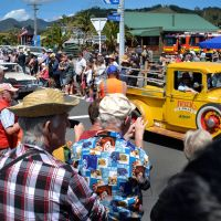 Big Motors, Big Sounds, Retro Caravans, Motorhomes at the Beach Hop!