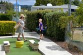 Fiona and Liam at the mini golf