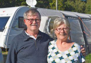 Ian and Karen with their Caravan